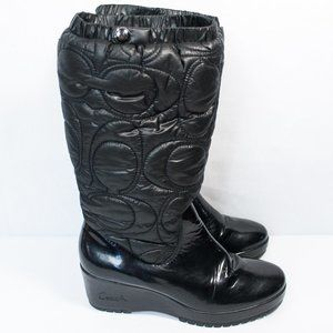 Coach Shoes - Coach | Cantina Black Winter Wedge Boots | 8B
